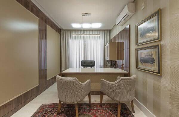 Tapete persa na decoração de home office