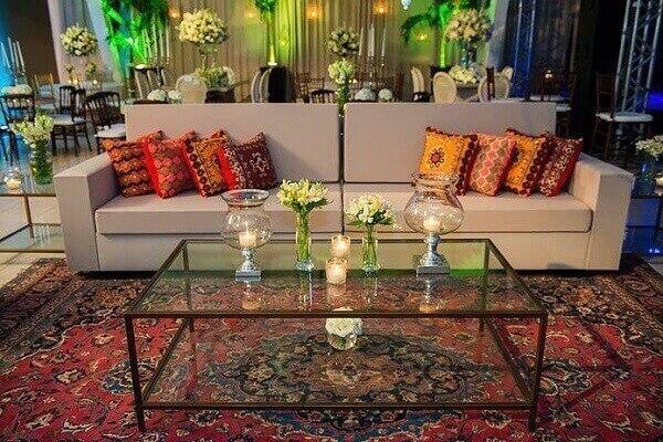 Tapete persa na decoração de salões de festa