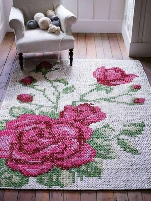 Tapetes de barbante flores