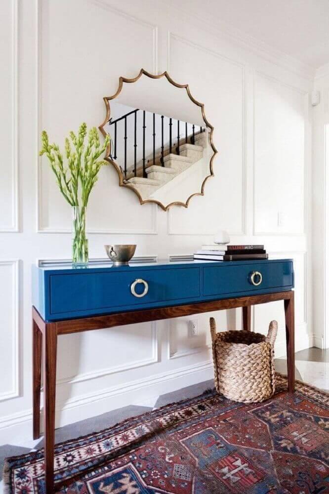 aparador antigo laqueado azul Foto Pinterest