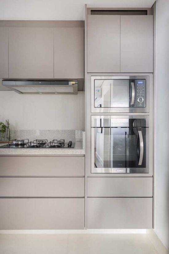 armário de cozinha - cozinha cinza