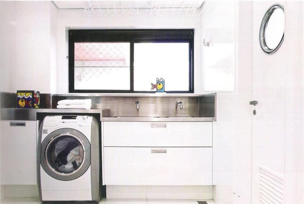 armário para lavanderia planejada Foto Alessandra Maria Lopes
