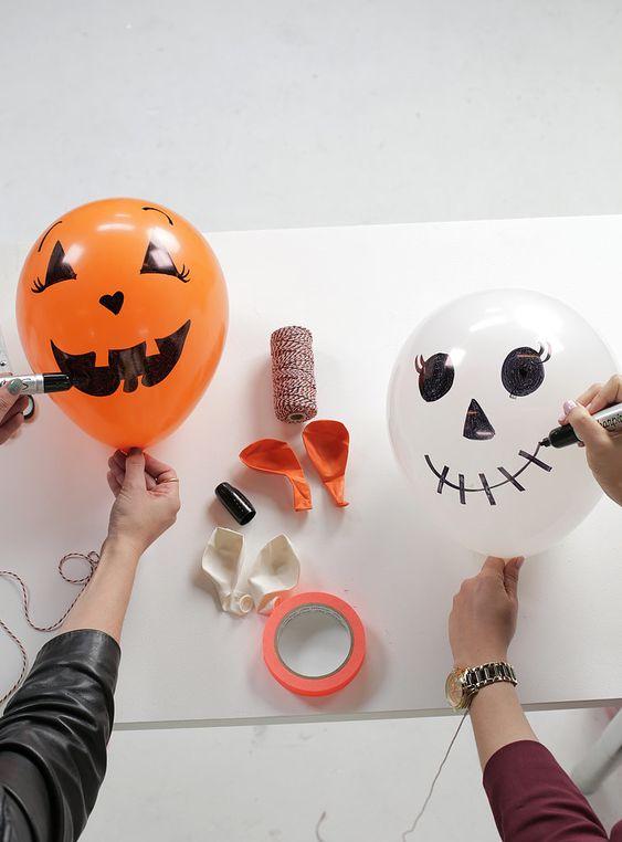 Balões decoração halloween festa