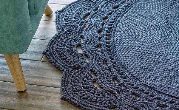 Bico de crochê para tapete