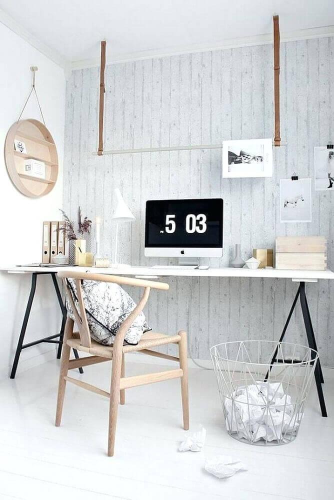 cadeira moderna de madeira para decoração de home office minimalista Foto Lackovic