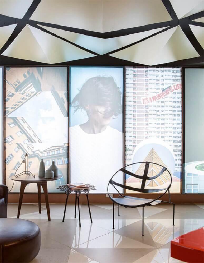 cadeiras modernas com design redondo Foto Domingo Arquitetura e Design