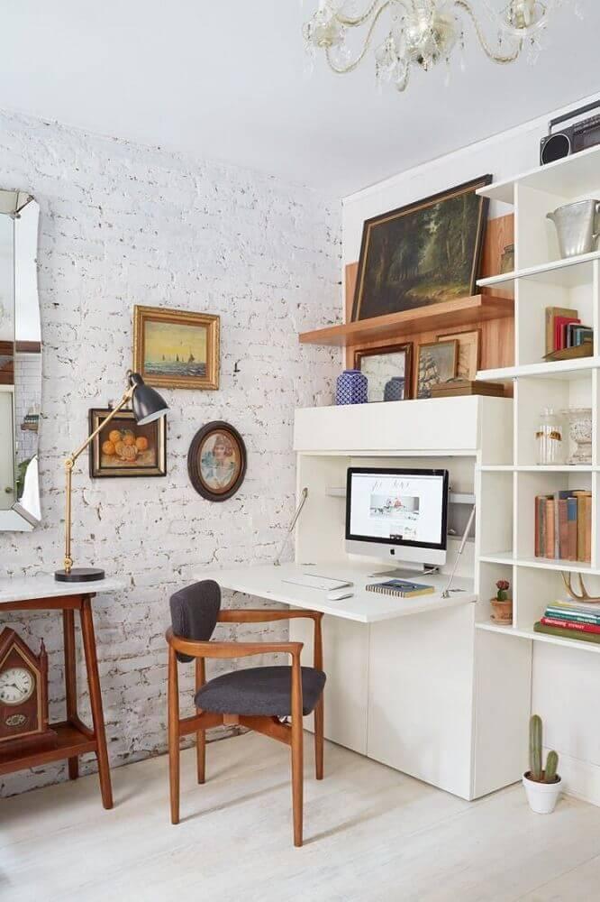 cadeiras modernas de madeira para home office pequeno Foto Robust RAK