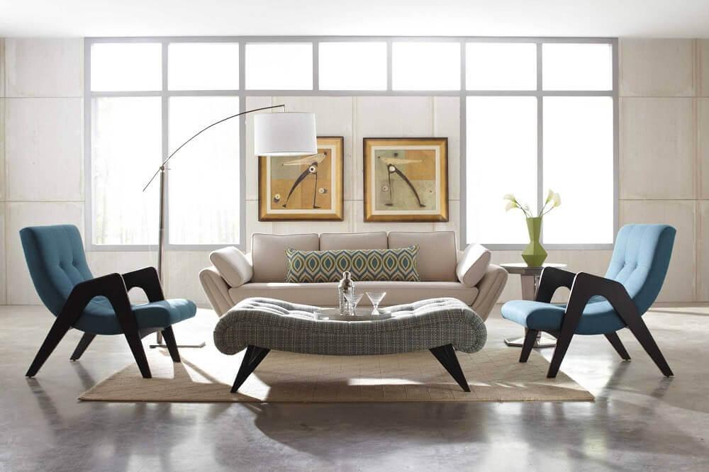 cadeiras modernas e confortáveis para decoração de sala de estar Foto Roy Home Design