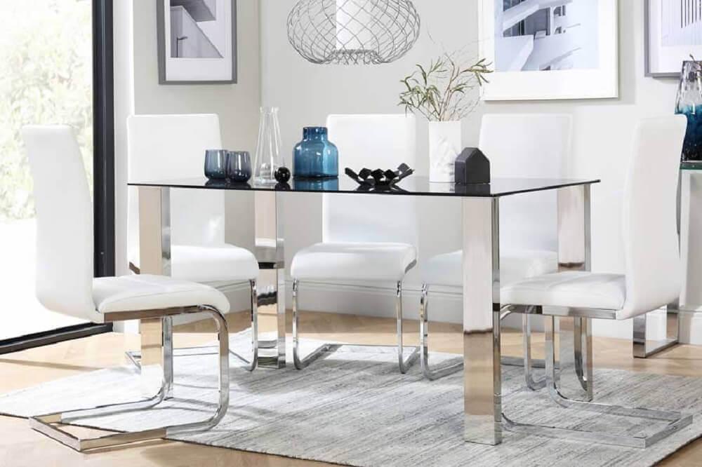 cadeiras para sala de jantar modernas Foto Ranchoa Vellanas