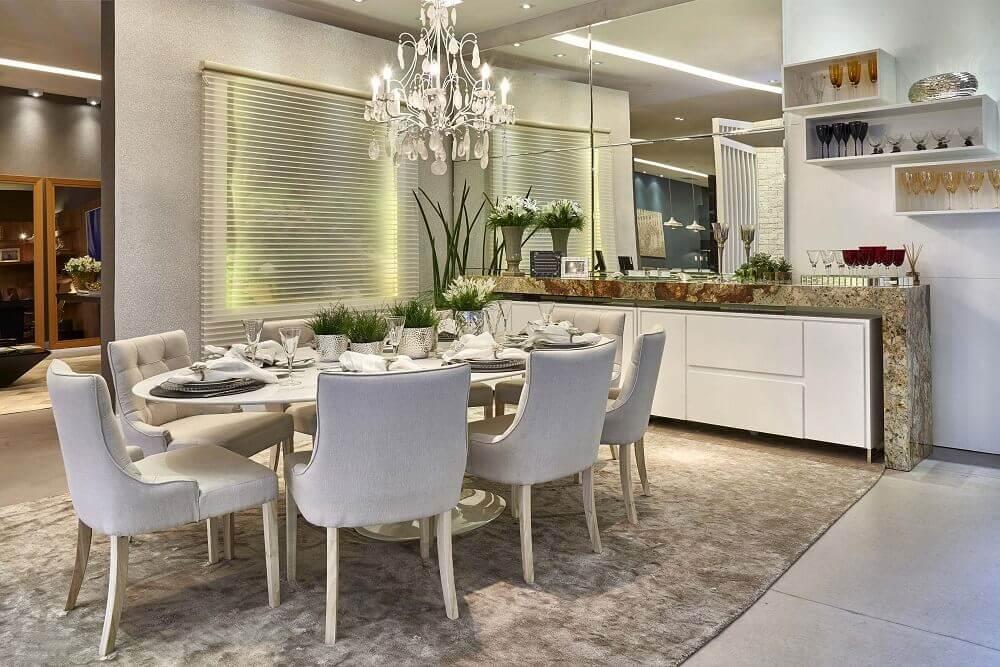 cadeiras para sala de jantar modernas com decoração sofisticada Foto Pinterest