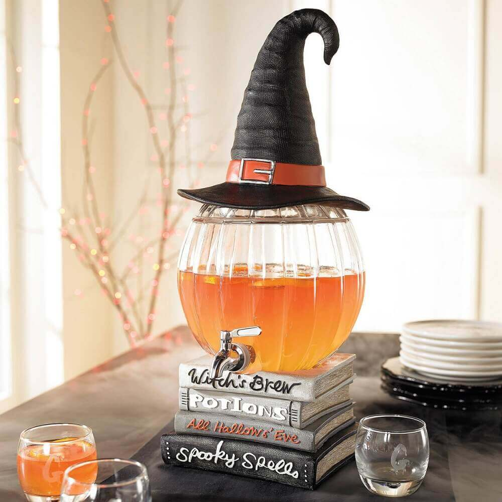 witch hat and glass jar for halloween party decoration Photo The Green Head