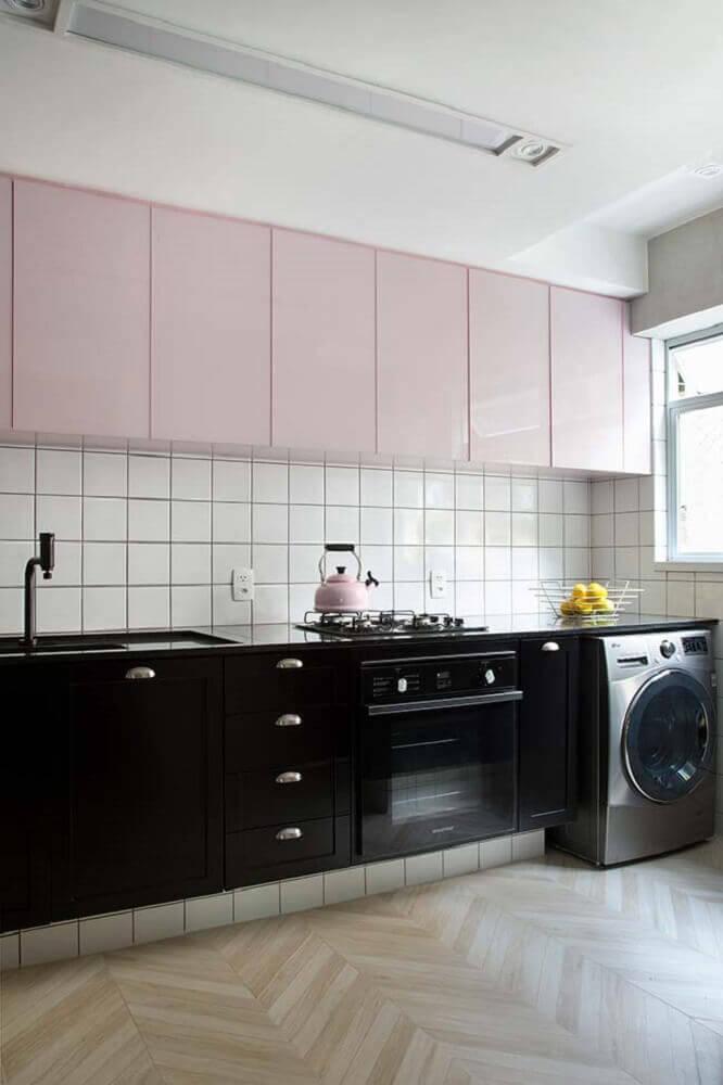 cozinha com móveis laqueados Foto PKB Arquitetura