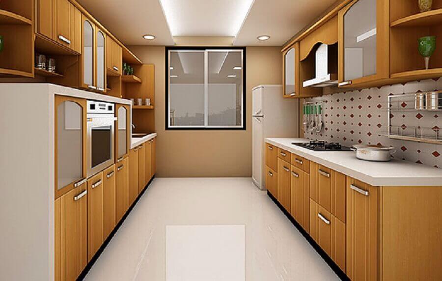 cozinha corredor planejada Foto Yandex