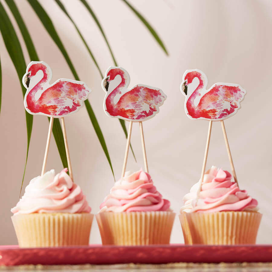 cupcakes para festa flamingo tropical Foto Not On The High Street