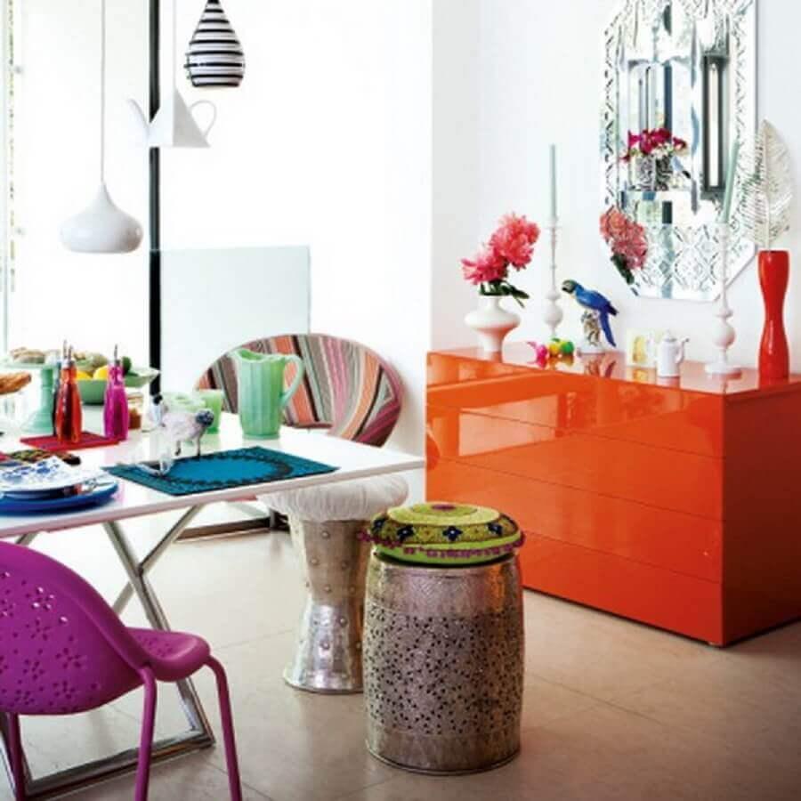 decoração colorida com móveis laqueados Foto Creative Influences