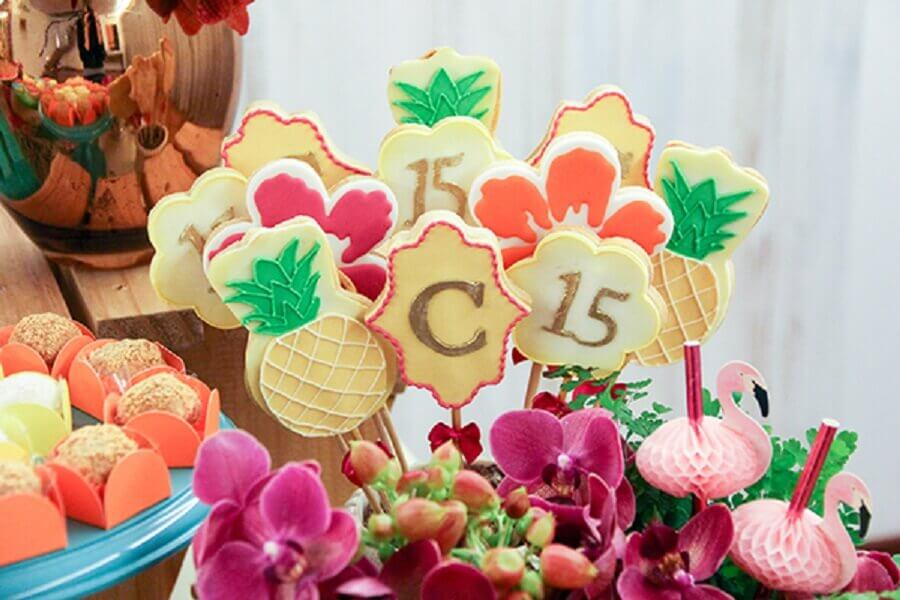 tropical party candy decoration Foto Constance Zahn