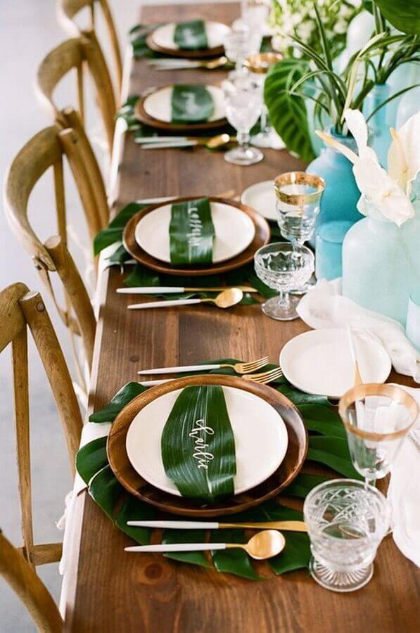 decoração de casamento festa tropical Foto Vloggist
