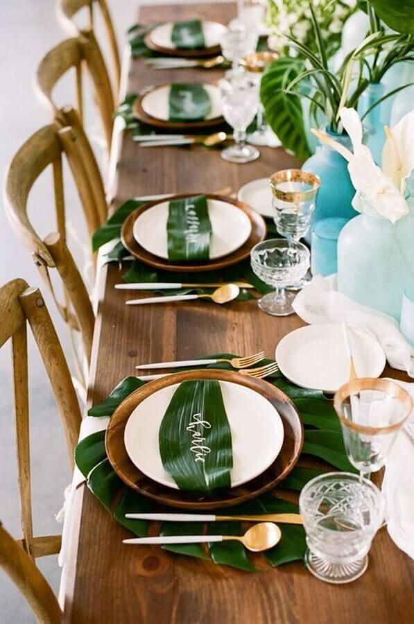 wedding decoration tropical party Foto Vloggist
