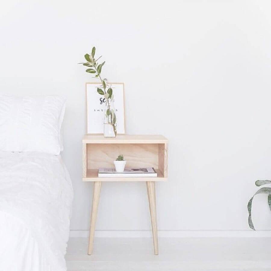 decoração minimalista com modelos de criado mudo retrô Foto Growing to Gether