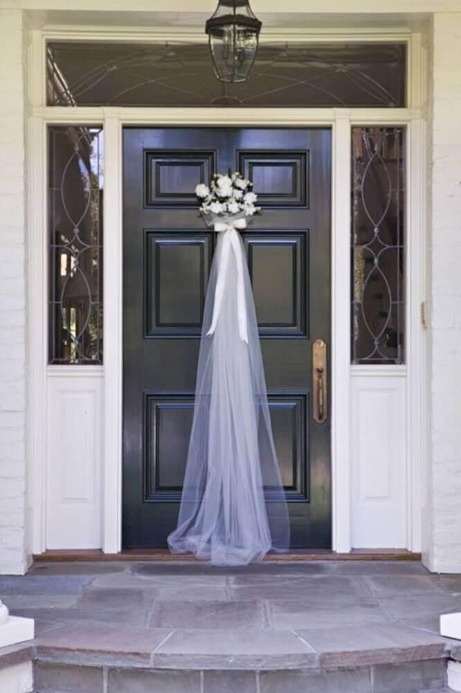 decoração para casamento em casa com véu de noiva Foto Futurist Architecture