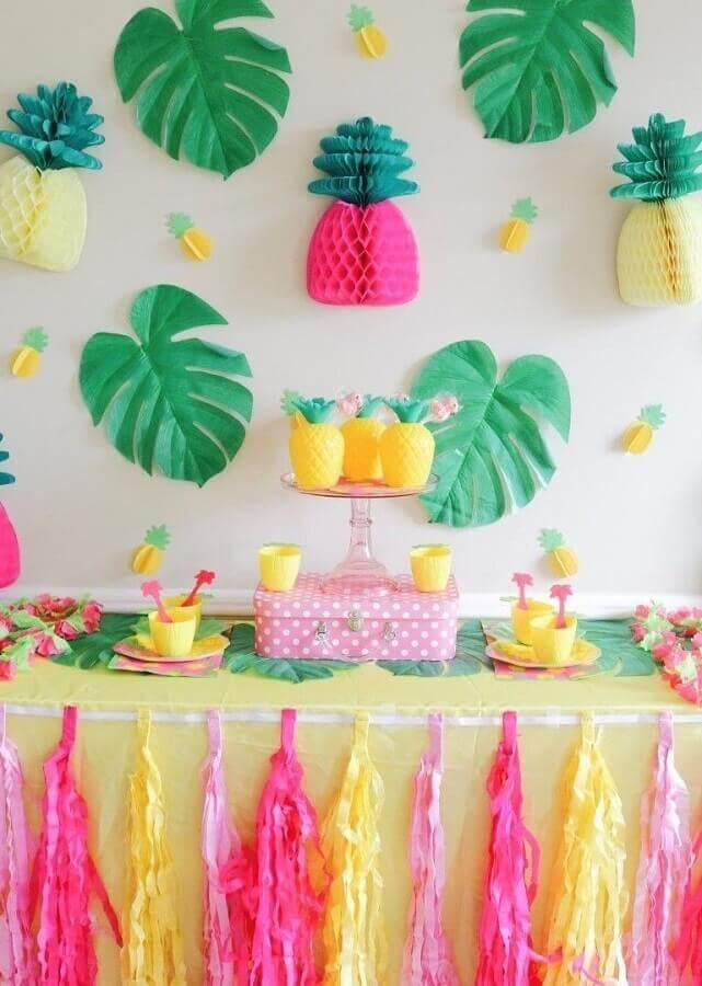 decoration for simple tropical party Foto PinsDaddy