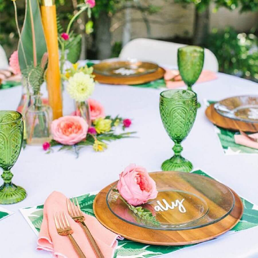 decoration for simple tropical party Photo Wedding Gawker