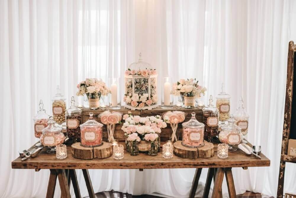 decoração para mesa de casamento em casa Foto WedMeGood