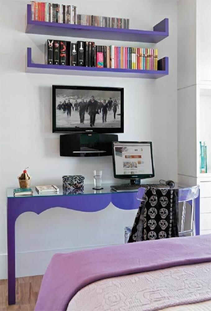 decoração para quarto com móveis laqueados Foto Leather Finish