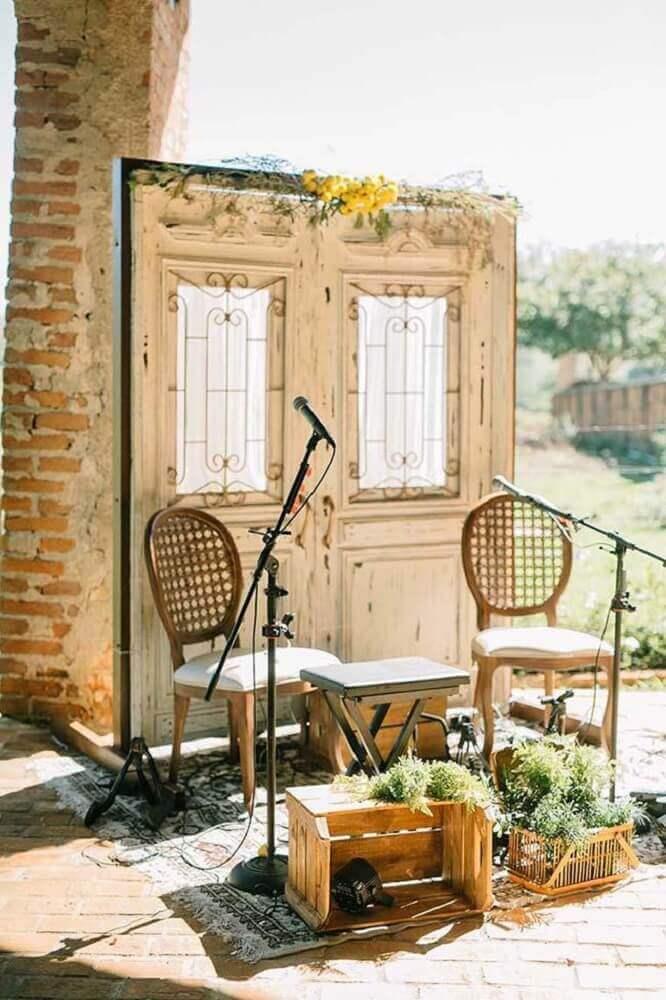 decoração rústica para casamento simples em casa Foto Home Decoo