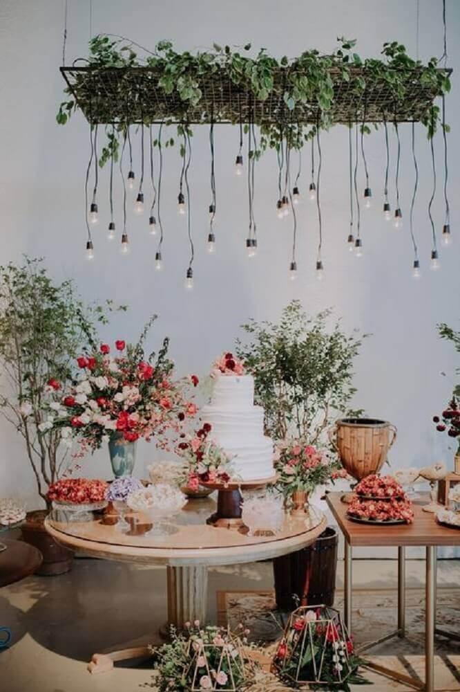 decoração rústica para casamento simples em casa Foto Pinterest