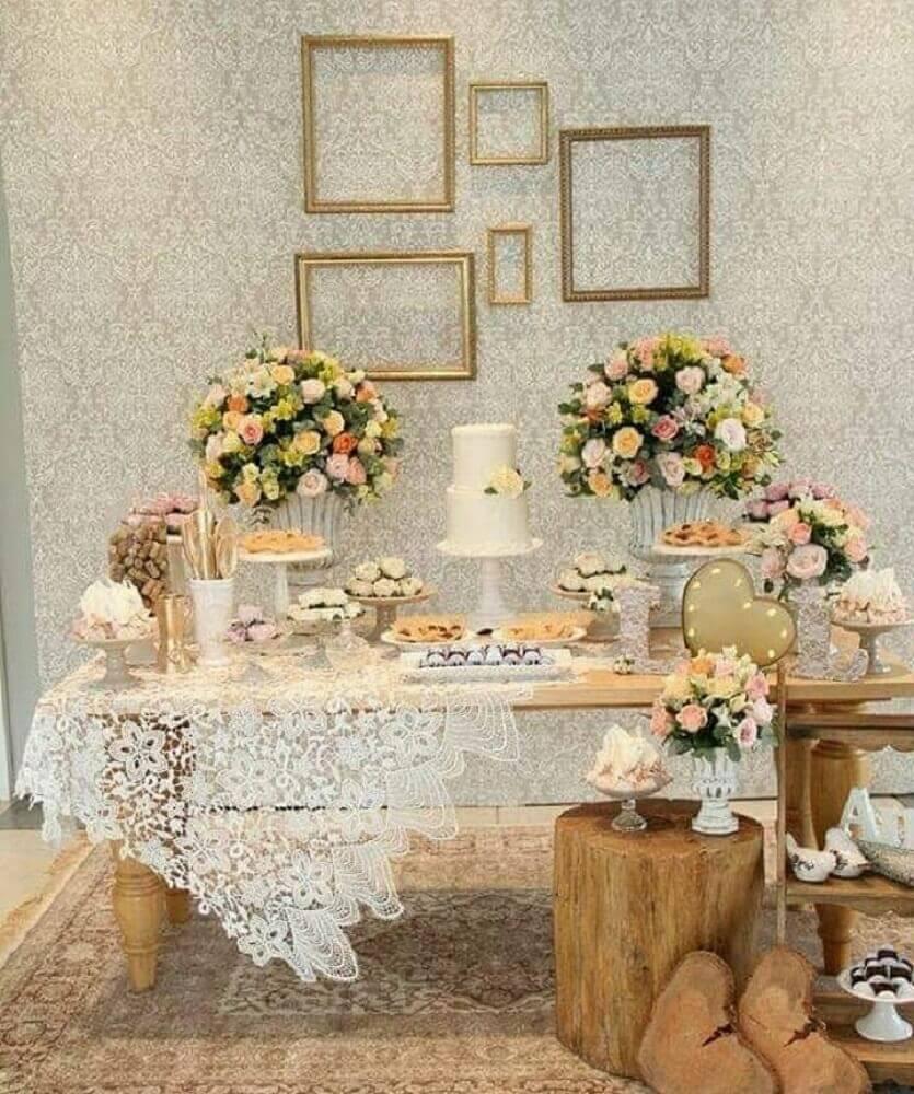 decoração rústica para casamento simples em casa Foto Point Comunicação