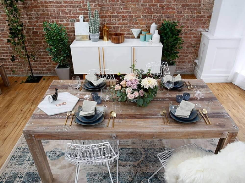 decoração simples para pequeno casamento em casa Foto Pinterest