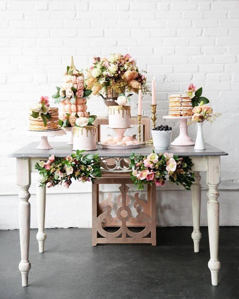decoração super delicada para casamento em casa Foto Pesona Pengantin