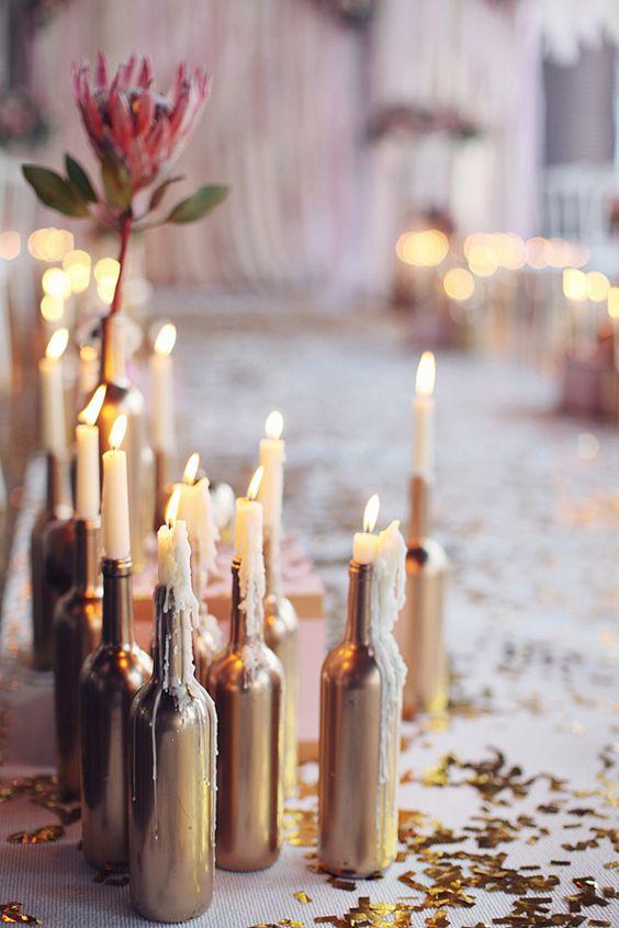 Decoração de halloween com velas