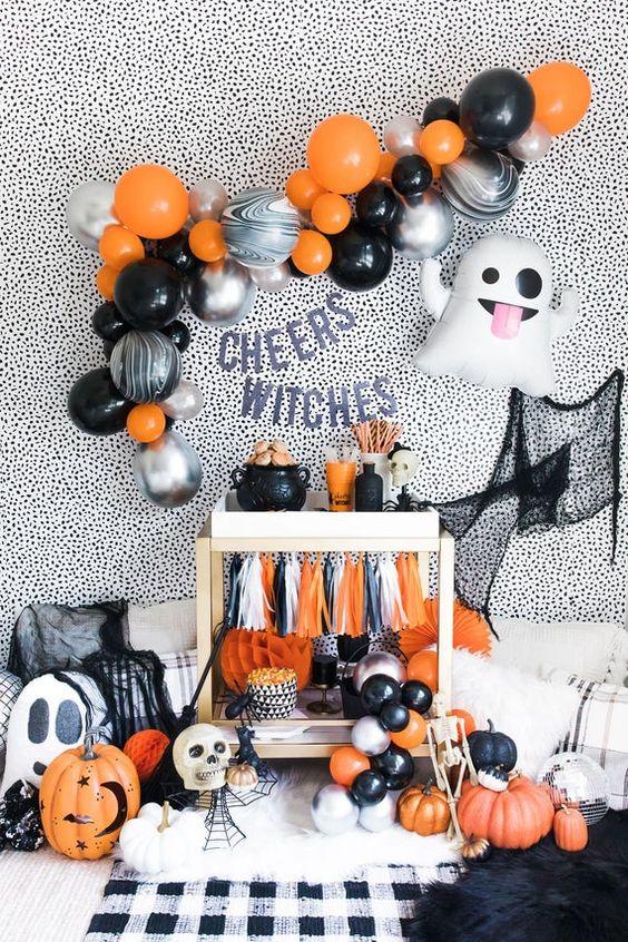 Decoração de halloween festa