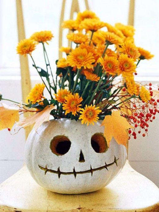 Decoração de halloween com flores