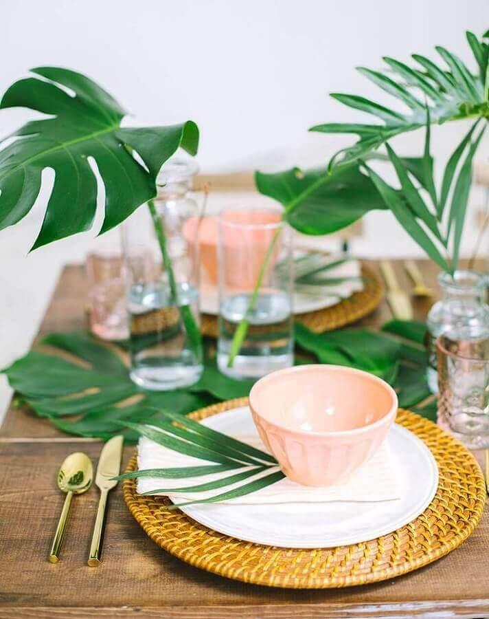 detalhes decorativos para festa tropical de casamento Foto Weddbook