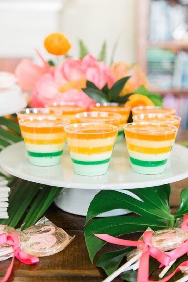 doces coloridos para festa tropical Foto Pinterest