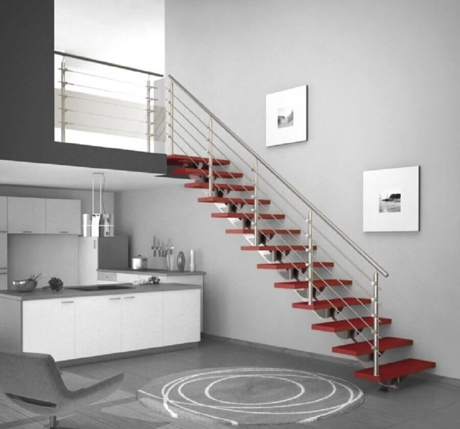 escada simples com guarda corpo de alumínio Foto Stairs Design Ideas