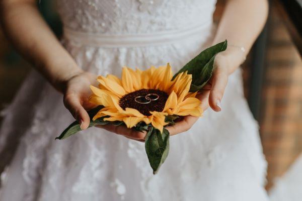 Girassol na festa de casamento