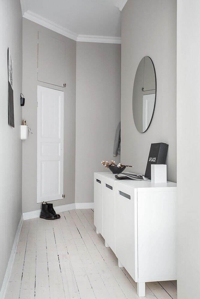 móveis laqueados branco para decoração minimalista Foto Pinterest