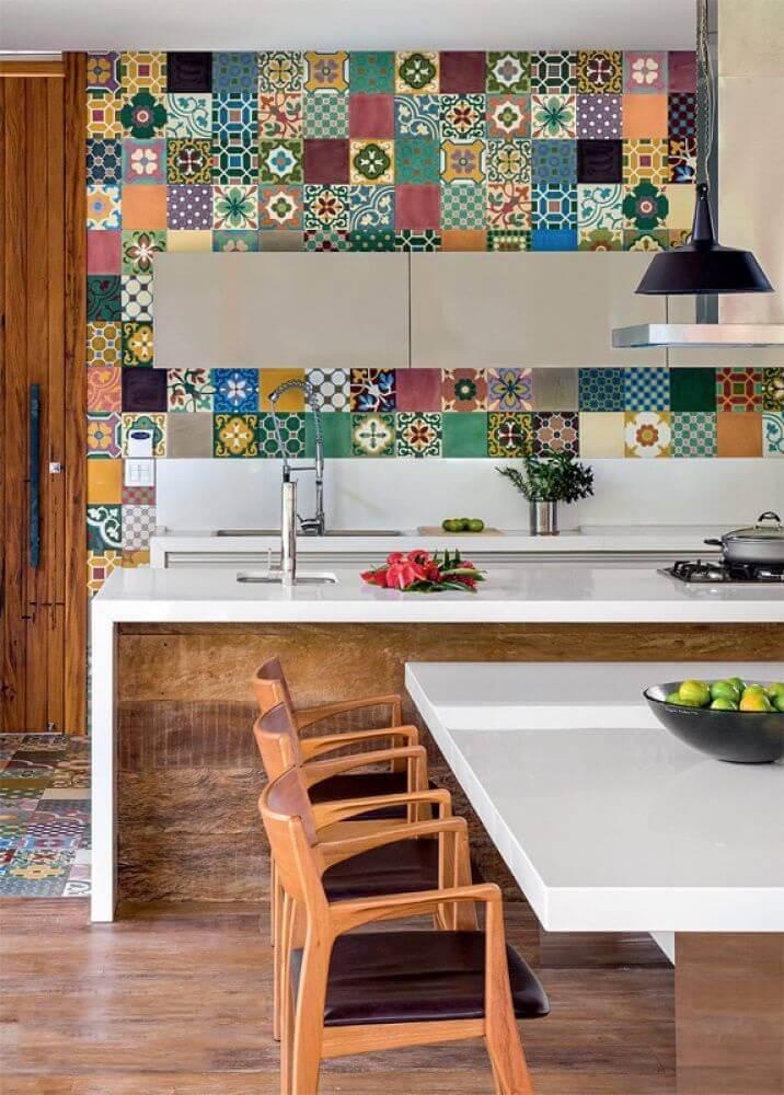 móveis laqueados para cozinha americana Foto Pinterest