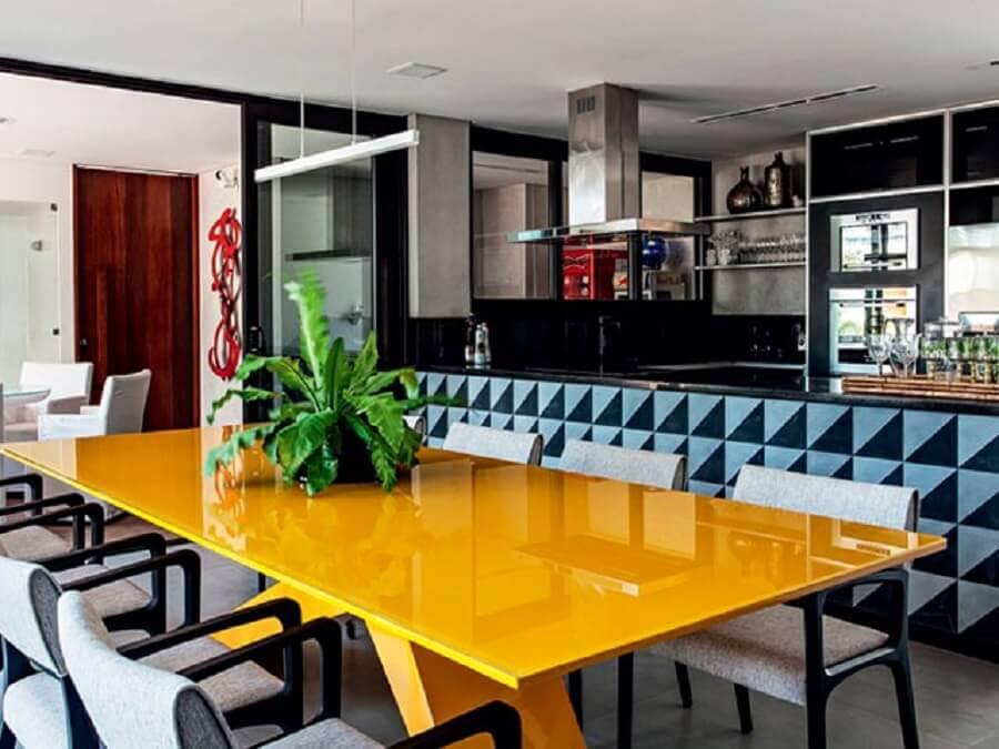 móveis laqueados para decoração de sala de jantar laqueada Foto Absolute Hotties