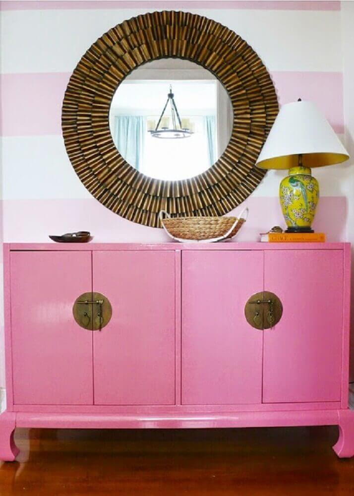 móvel laqueado rosa Foto Mackenzie Horan
