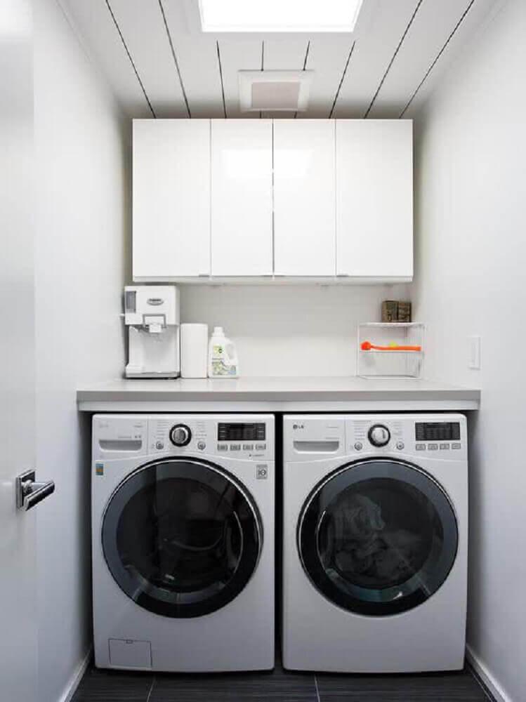 modelo aéreo de armário para lavanderia pequena Foto Pinterest
