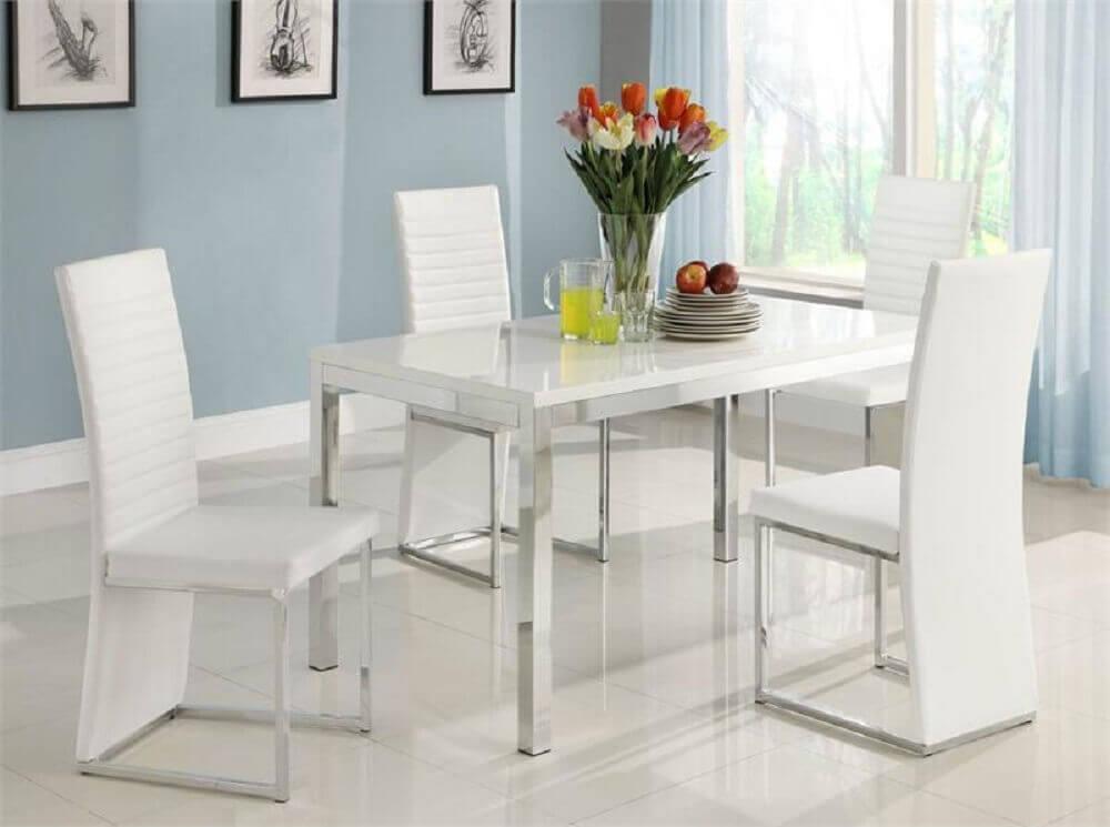 modelo de cadeiras modernas para sala de jantar Foto RomDecor