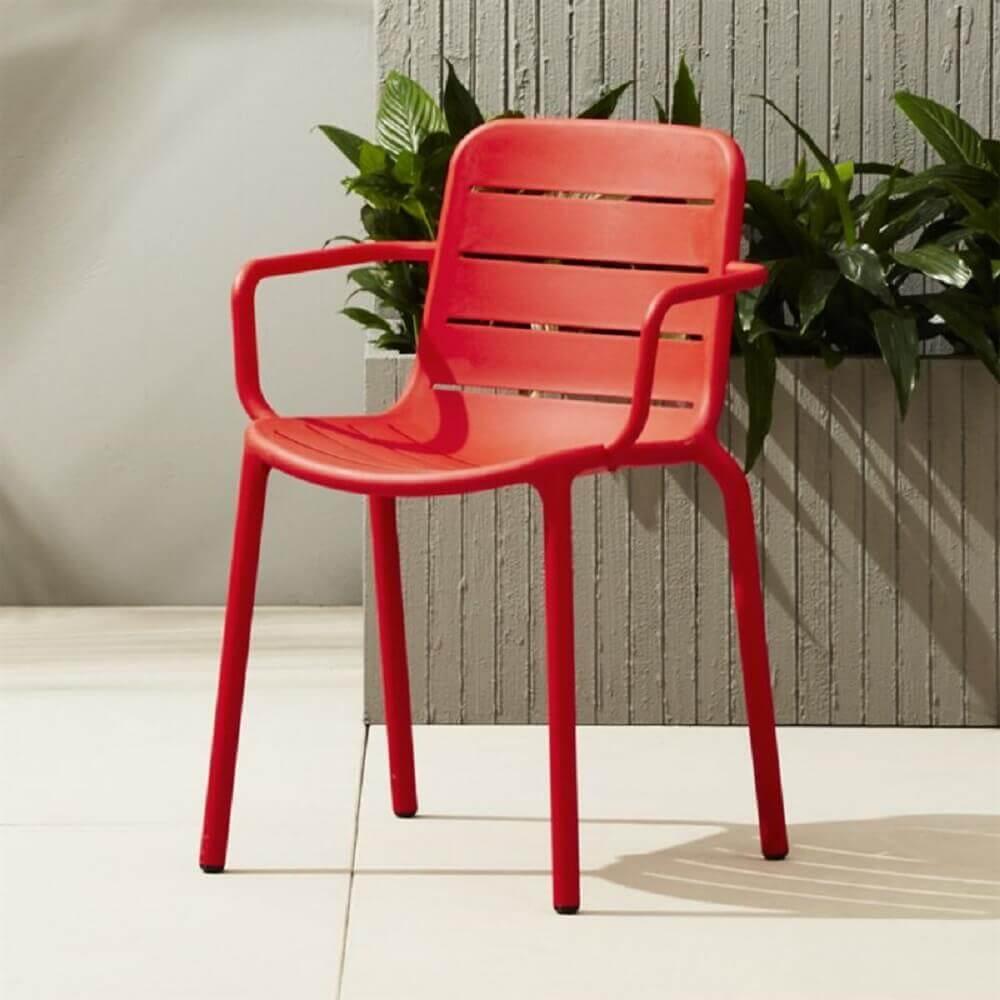 modelo vermelho de cadeira de plástico moderna Foto Pinterest