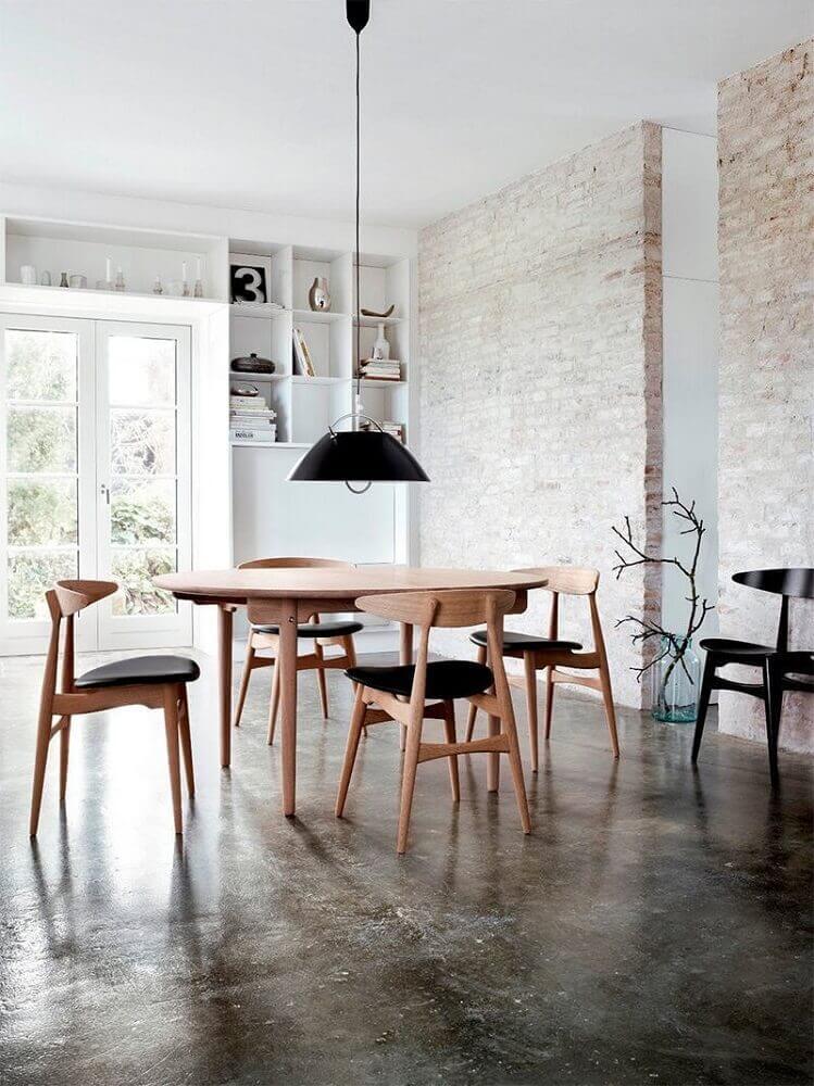 modelos de cadeiras para sala de jantar modernas e minimalistas Foto Trendir