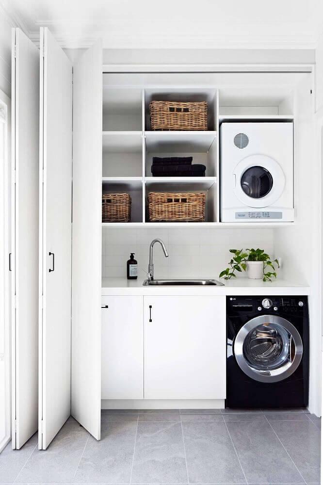 nichos e porta camarão para lavanderia pequena Foto Pinterest