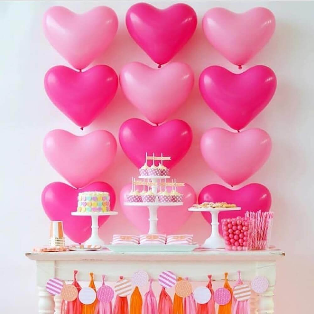 heart shaped balloon panel for romantic party decoration Photo Home Decor Ideas